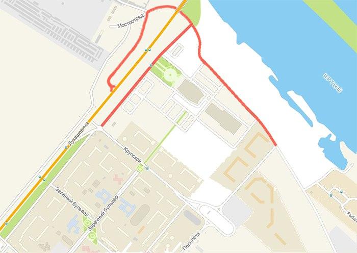 Движение автобусного маршрута