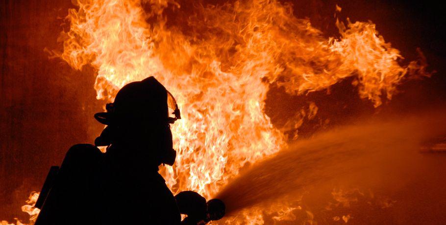 Впожаре в личном доме под Омском умер мужчина