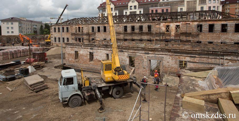 Наокончание реконструкции Омской крепости нехватило 23 млн руб.