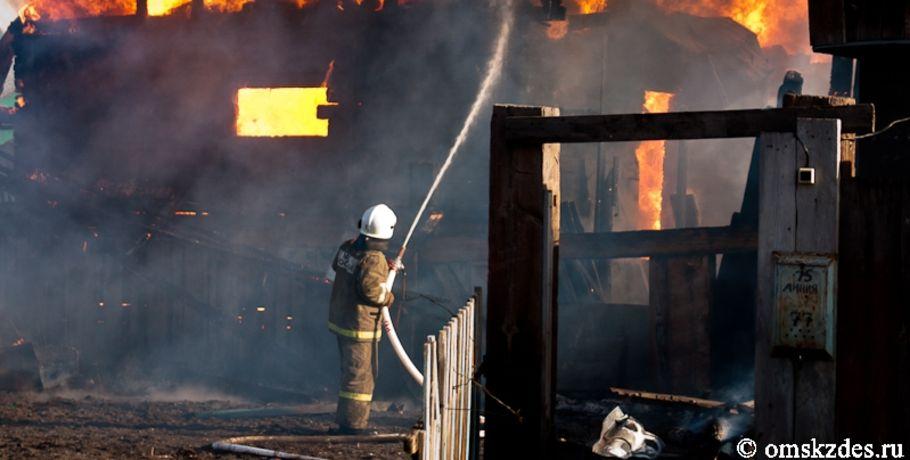 ВОмском районе сгорела семейная пара