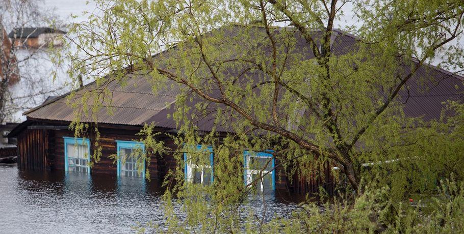 Вподтопленных районах Омской области вода пошла наспад