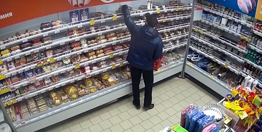 ВОмске задержали подозреваемого всерийных кражах колбасы