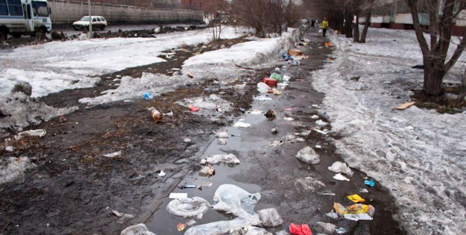 Омск попал в десятку самых грязных городов России