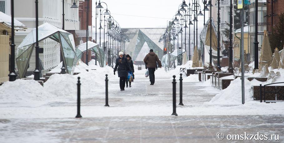 Вэти выходные вОмске предполагается снег иметель
