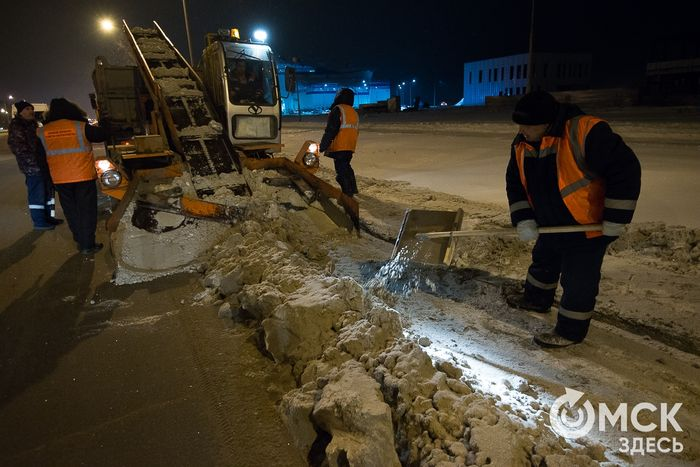 Новый мэр Омска Оксана Фадина выехала на уборку дорог от снега