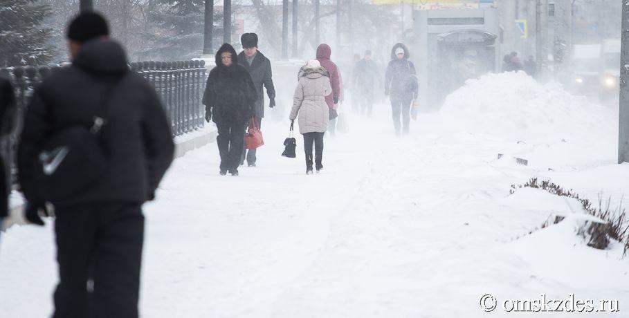 От-2 до-30 градусов: февраль вОмске будет срезкими перепадами