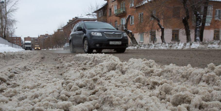 Вминприроды связали чёрный снег спогодой вОмске