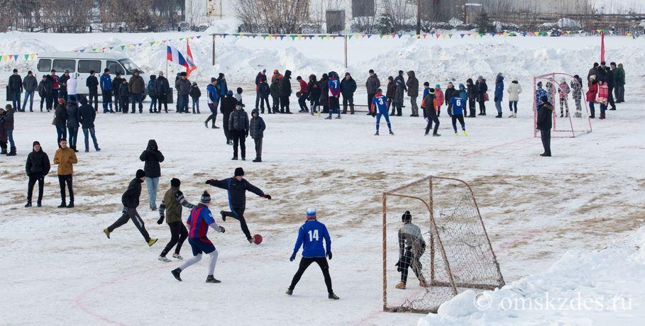 В Омске начинается монтаж хоккейных коробок