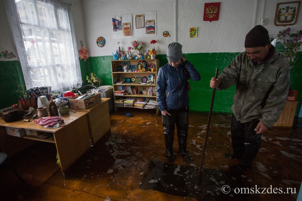 Подтопленный Эбаргульский сельский клуб