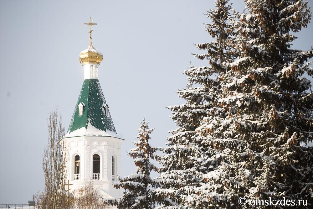 Омичам показали на100% воссозданный Воскресенский храм