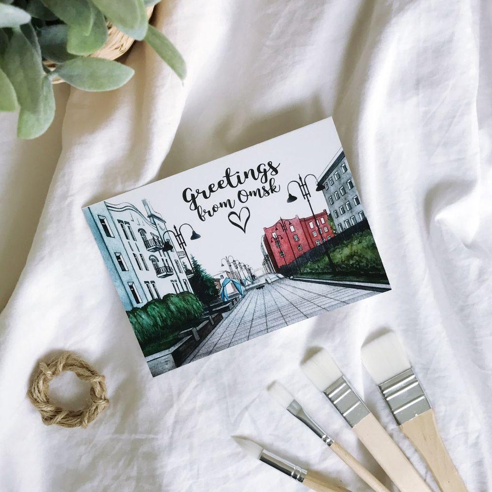 Привет из омска открытки